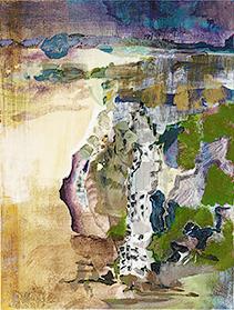 fGf I, 2010, Öl u. Wasser auf Leinwand, 80 x 60 cm