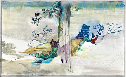 fGf XXXVI, 2011, Öl u. Wasser auf Leinwand, 110 x 180 cm