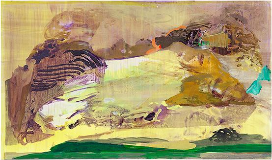 LD LV, 2015, Öl u. Wasser auf Leinwand, 130 x 250 cm