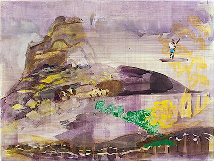 . SS 2, 2015, Öl u. Wasser auf Leinwand, 150 x 200 cm